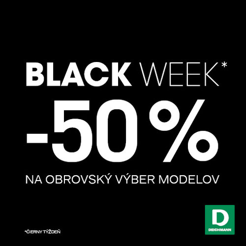 BLACK WEEK v predajniach DEICHMANN je tu!